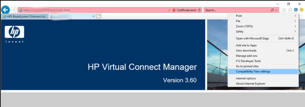 Vista de compatibilidad para virtual connect